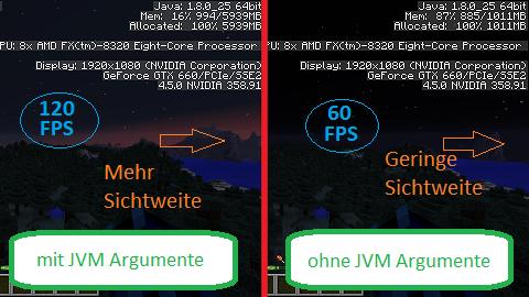 Gut zu wissen: JVM Arguments und OptiFine - RocketMiners de